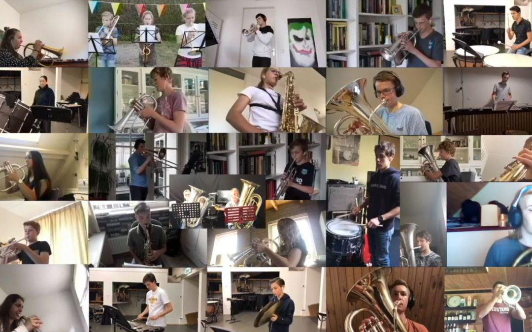 2020 Quarantaine jeugdorkest speelt 'Lind dè is de sgônste plats'